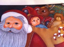 santa and toy bag