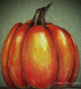 Pumpkin Colored Pencil Design
