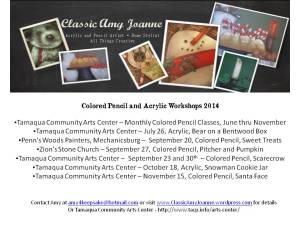 Workshop Schedule 2014