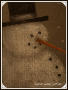 Mr Snowman Colored Pencil Design