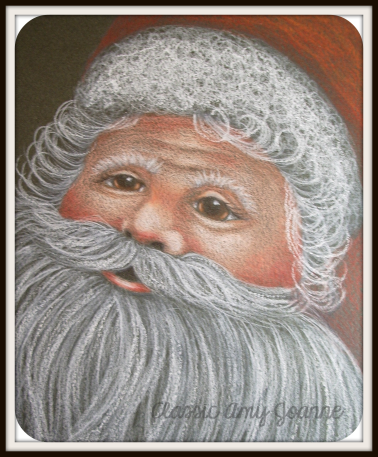 Santa Claus Colored Pencil Design - includes step by step photos