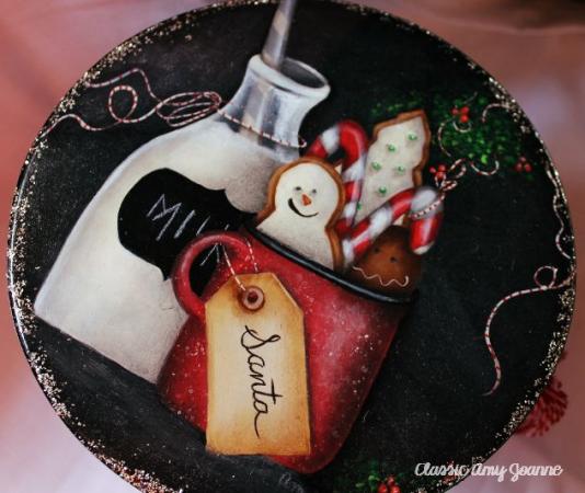 Sant'a's Treats - $10.00 - Tin Cake Pedestal