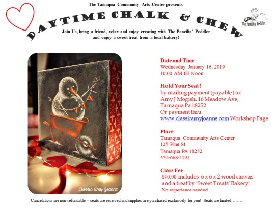 Flyer Colored Chalk and Chew - I heart snowman AM 2019
