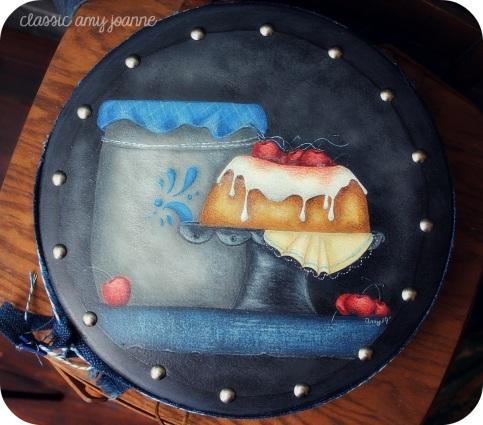 denim and cherry cake