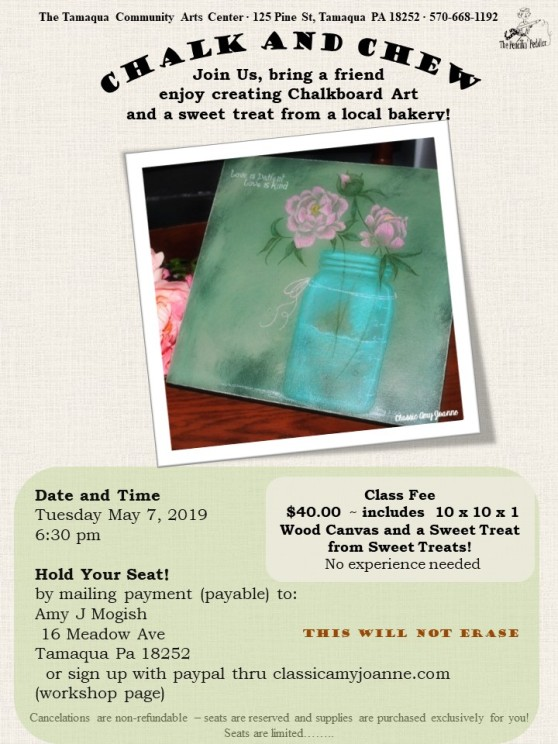 flyer colored chalk and chew - peony 2019